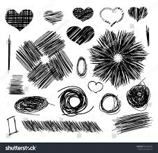 pencil sketches st valentines day hand stock vector 362350859