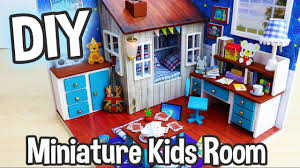 diy miniature dollhouse kit cute kids bedroom roombox with working
