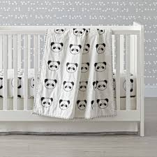 panda crib bedding the land of nod