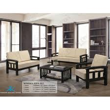 3 Seater 2 Seater Sofa Set Sg Tan Panaromic 1 2 3 Seater Wooden Sofa Set Cream Lazada
