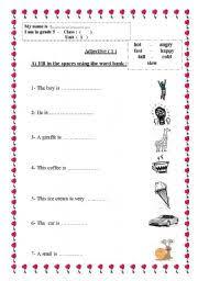 adjective worksheets grade 1 worksheets adjective