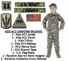 Halloween Military Costumes Kids Military Uniform Package Acu Digital Products Love