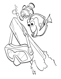 nemo mask coloring page download printable coloring pages