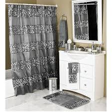 popular bath sinatra white shower curtain and bath accessories