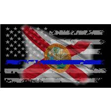 Florida State Flag Image Florida State Flag Thin Blue Line Decal