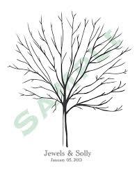 diy printable thumbprint tree guest book via etsy wedding ideas