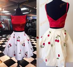 vintage cocktail party homecoming dresses 2017 print floral cherry plus size short prom