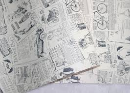 Peel And Stick Wallpaper vintage newspaper peel u0026 stick wallpaper beige black self adhesive
