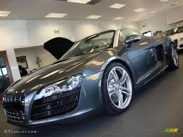 Audi R8 Silver - 2011 lava grey pearl effect audi r8 spyder 5 2 fsi quattro