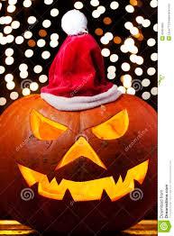 halloween pumpkin lights spooky halloween pumpkin shiny xmas hat stock photo image 46404969