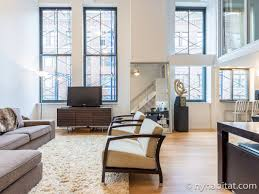 Loft Living Room by New York Apartment 1 Bedroom Loft Duplex Apartment Rental In