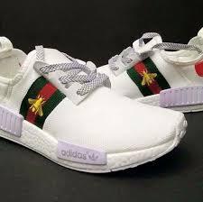 adidas x gucci adidas nmd r1 prime knit x gucci bee white men s fashion footwear