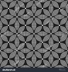tiled seamless geometric trellis pattern dotted stock vector
