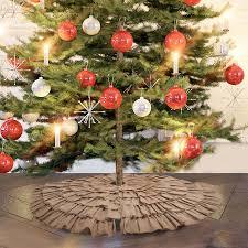 burlap tree skirt tree skirt christmas tree skirt ruffled tree skirt
