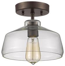 Bronze Semi Flush Ceiling Light by Ironclad 1 Light Semi Flush Ceiling Fixture Oil Rubbed Bronze