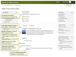 organize your moodle course page umass amherst information