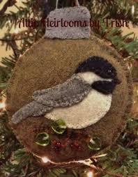 felt chickadee bird ornament bird ornaments felting and ornament