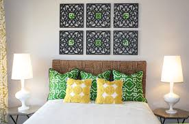 diy peacock decor bedroom contemporary with woven headboard mid