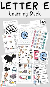 free letter e printable pack fun with mama