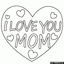 i love you mommy coloring pages coloring pages for mom i love you