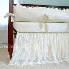 Baby Crib Bed Skirt White Lace Baby Crib Bedding White From Whimsicalandwitty On
