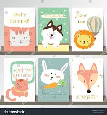 rabbit collection light pink blue green collection banners stock vector 414535828