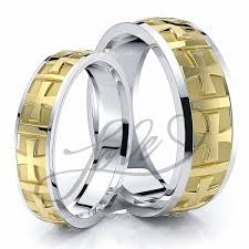 Wedding Rings His And Hers by Solid Cross Religious Matching 7mm His And 5mm Hers Wedding Band Set
