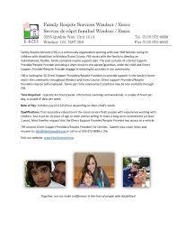 Respite Care Worker Resume Family Respite Services Windsor Essex Linkedin