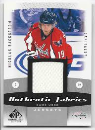 Meme Trading Cards - 2010 11 sp game used authentic fabrics nicklas backstrom af ba on