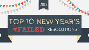 new year s tops top 10 failed new year s resolutions infographic