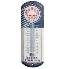 harley davidson skull mini thermometer