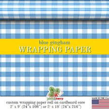 gingham wrapping paper orange gingham wrapping paper custom orange gingham plaid gift