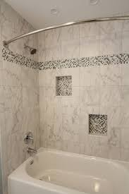 Senior Bathroom Remodel Baldwin Cool Toned Bath With Mosaic Tiled Baseboards Taylor Made