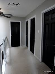 black interior doors with gray walls for the living room our
