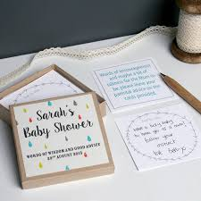 personalised baby shower message box by modo creative