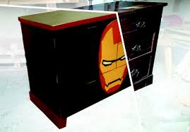 iron man cabinet upcycled from a chest of drawers 10 steps with