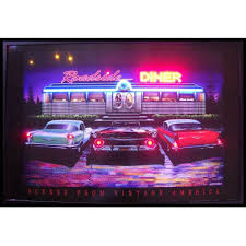 Man Cave Led Lighting by Roadside Diner Neon Led 50 U0027s Style Muscle Car Life James Dean