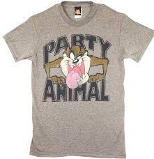 looney tunes animal t shirt with sized taz on t shirt