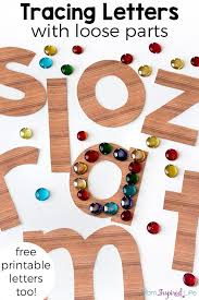 tracing letters with loose parts tracing letters printable