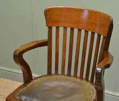 quality edwardian oak antique swivel office chair c 1910 united