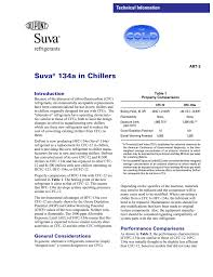 suva r 134a in chillers technical information