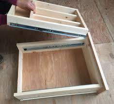 ana white kitchen drawer organizer adding a double drawer to