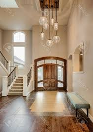 Lights For Vaulted Ceiling Gorgeous Beautiful Foyer In Home Entryway With Stairs Pendant