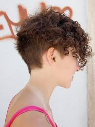 curly and short haircut showing back side view of trendy short curly hairstyle curly hairstyles for