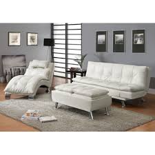 Futon Or Sleeper Sofa 3 Pieces Dilleston White Futon Sleeper Sofa Bed Set 300291 Furniture