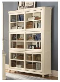 Bookcases With Glass Shelves Barrister Bookcase Glass Panel Sliding Doors 3 Enclosed Shelves Are He