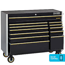 Tool Cabinet With Wheels Craftsman 52 Inch 12 Drawer Rolling Cart Black