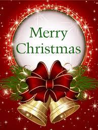 Merry Birthday Card Shining Christmas Bell Card Birthday Greeting Cards By Davia