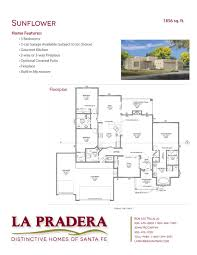 Santa Fe Home Plans La Pradera Floor Plans