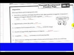 worksheet 36 1 magnetism youtube